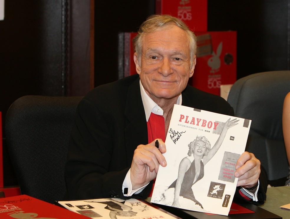 Resultado de imagem para Hugh Hefner, fundador da revista Playboy,