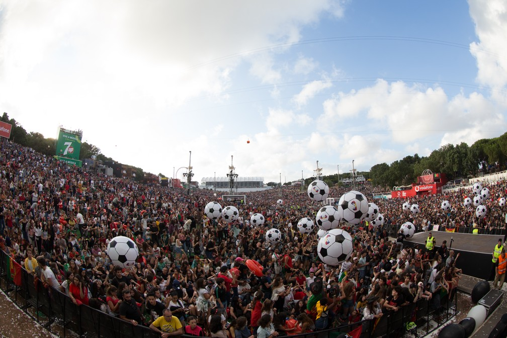 Jogo de Portugal contra o Uruguai válido pela Copa do Mundo da Rússia é transmitido durante o Rock in Rio Lisboa (Foto: Divulgação )