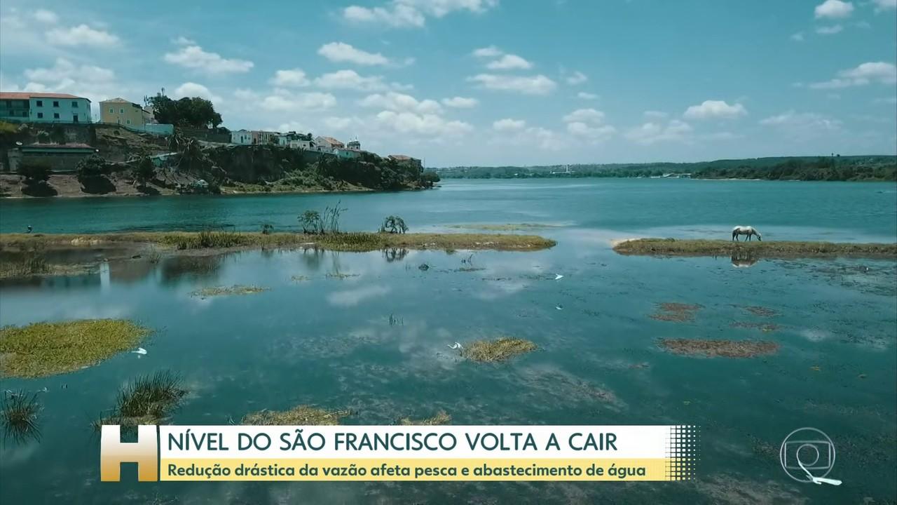 Queda no nível do rio São Francisco preocupa população local