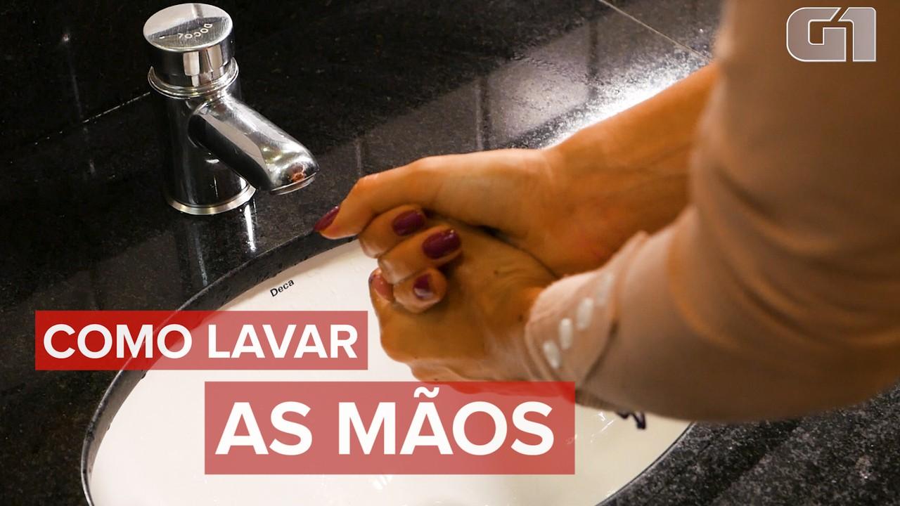 Como lavar as mãos do jeito certo com água e sabão