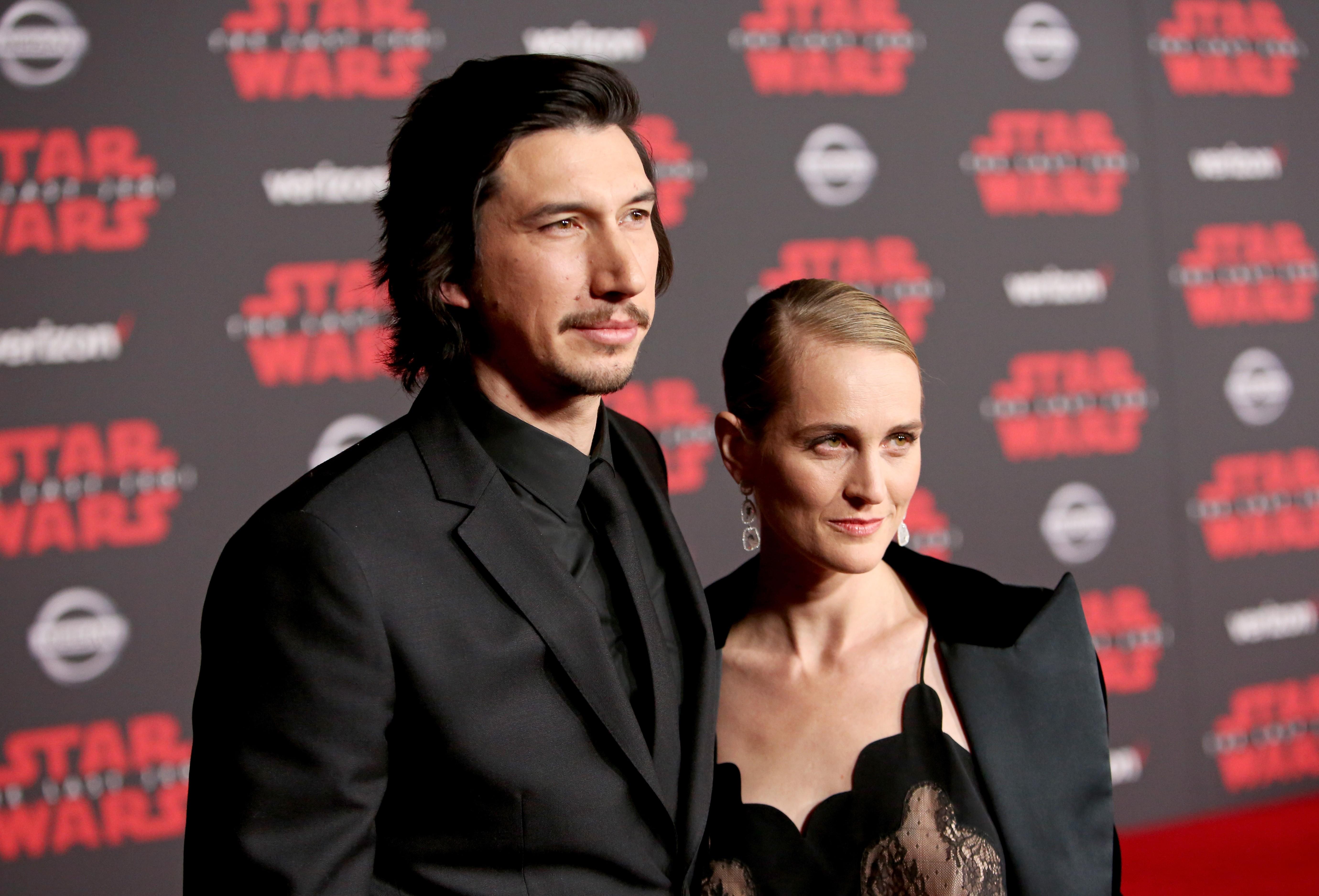 O ator Adam Driver com a esposa, a atriz Joanne Tucker (Foto: Getty Images)