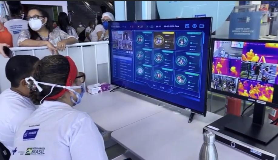 Combate à Covid-19: Câmeras térmicas começam a funcionar na Estação de ônibus da Lapa