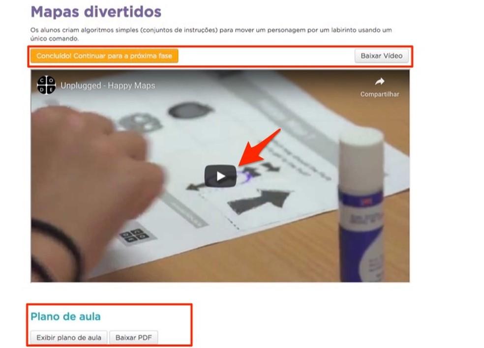 Aula em vídeo de um curso do site Brasil Mais Digital — Foto: Reprodução/Marvin Costa