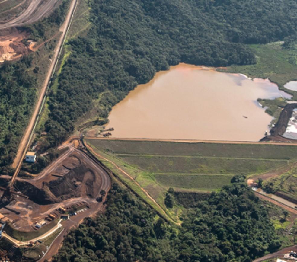 Barragem VI - Mina Córrego do Feijão — Foto: Reprodução