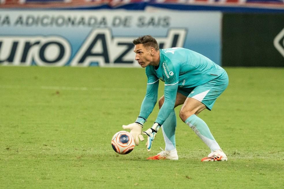 Fernando Prass, goleiro, Ceará — Foto: Thiago Gadelha/SVM
