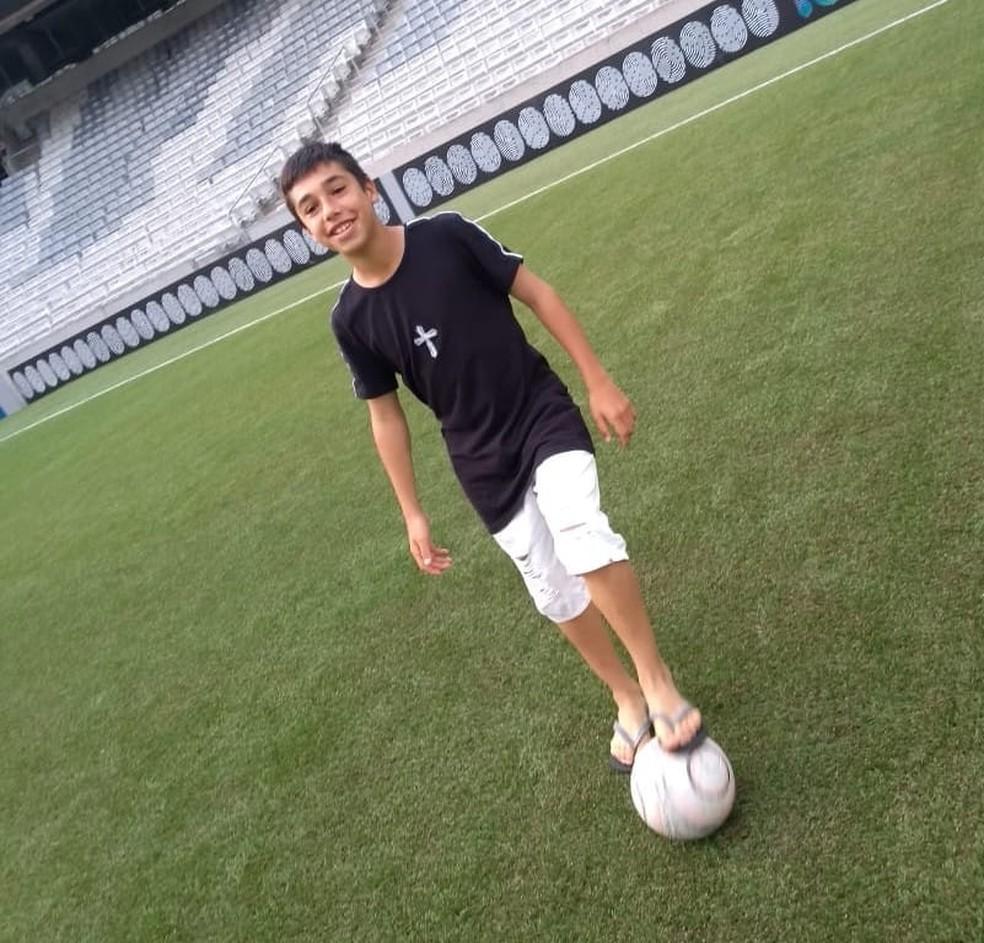 Gedson, o Gedinho, jogador da base do Flamengo  — Foto: Reprodução