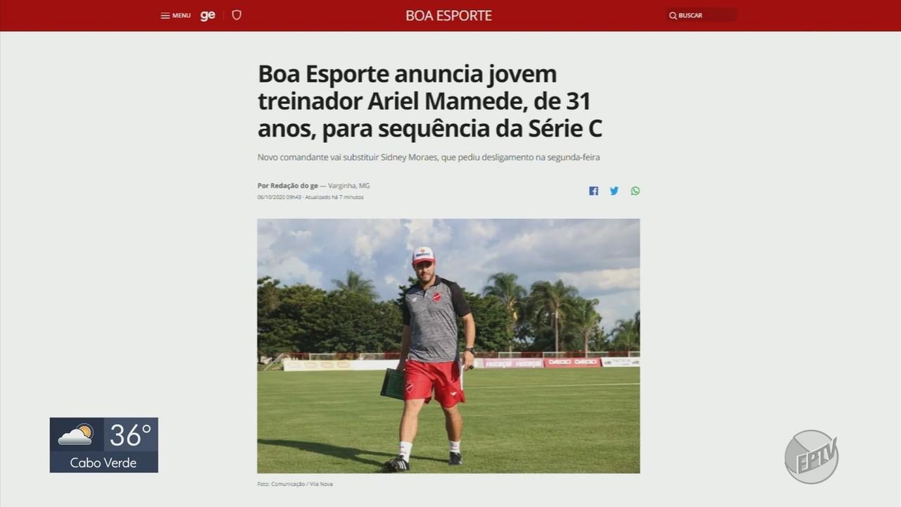 Boa Esporte anuncia jovem treinador Ariel Mamede, de 31 anos, para sequência da Série C