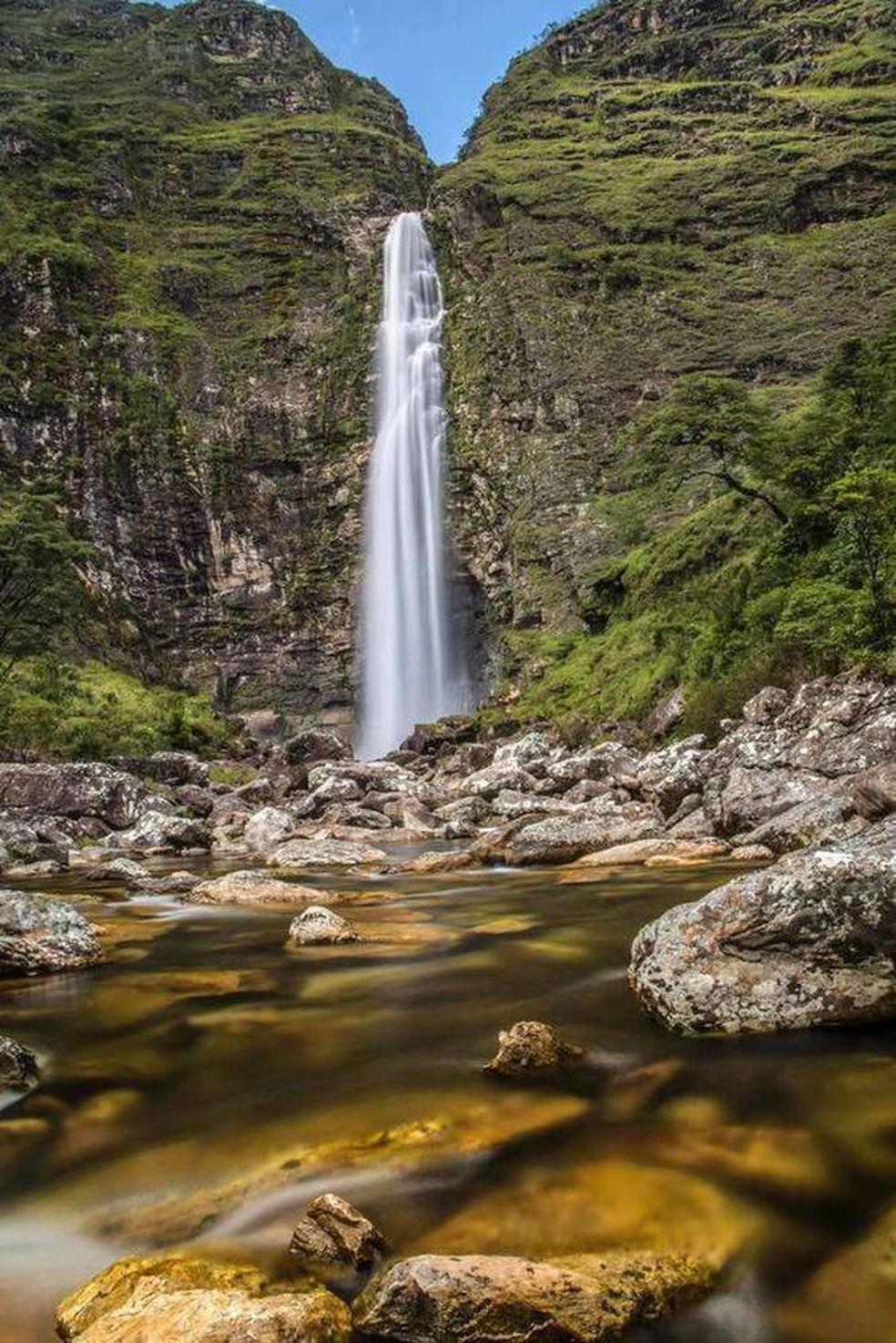 Cachoeira Casca D'Anta em São Roque de Minas — Foto: Fábio Rage/Secretaria Municipal de Turismo e Cultura/Divulgação