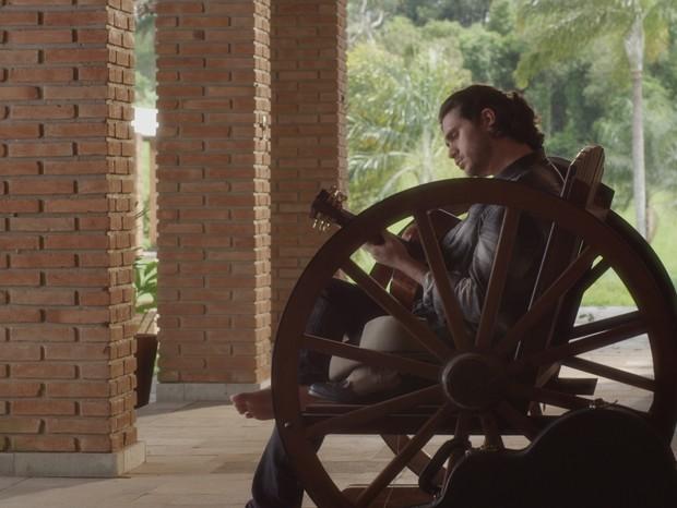 Gabriel Sater em Coração de Cowboy (Foto: Divulgação/Reprodução)