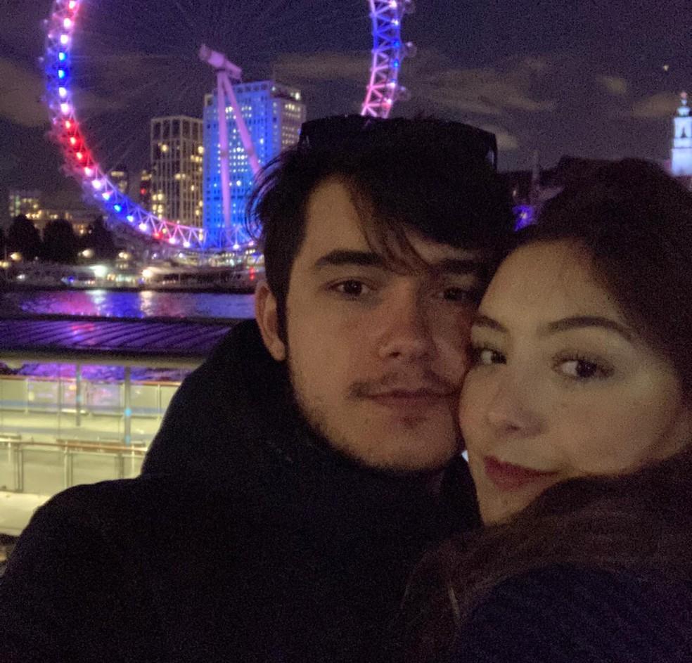 George e Nathalia se mudaram de Sorocaba para Londres em março — Foto: George Lucas Ribeiro Souza/Arquivo pessoal