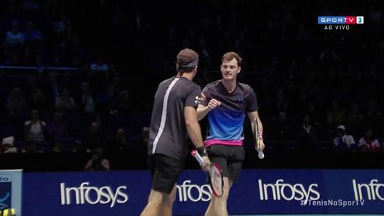 Bruno Soares e Murray vencem a segunda em Londres e garantem vaga antecipada nas semifinais