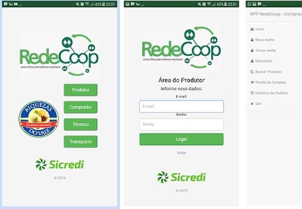 O aplicativo RedeCoop já está pronto, mas enfrenta problemas como falta de tecnologia e gestão para produzir em grande escala.  — Foto: Divulgação