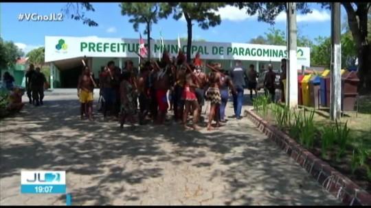 Indígenas Tembé protestam e ocupam sede da Prefeitura de Paragominas, no PA