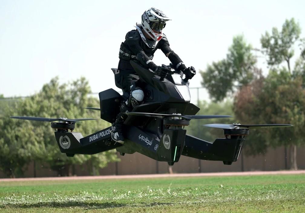 Moto voadora dos russos da Hoversurf — Foto: Hoversurf/Divulgação