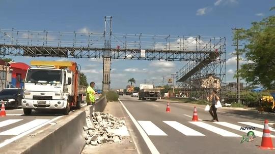 Trecho da BR-116 em Fortaleza terá velocidade reduzida a 40km/h para obras de passarelas