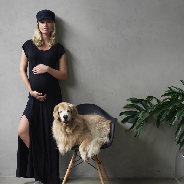 Pati Beck quando ainda estava grávida de Benjamin (Foto: Reprodução/Instagram)