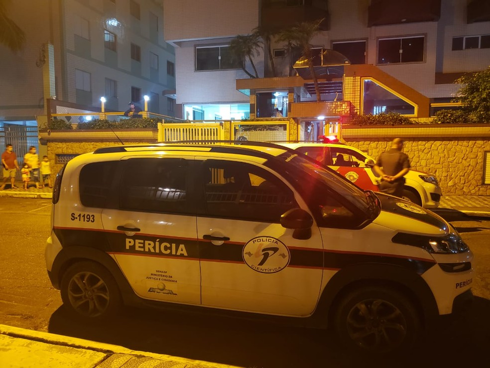 Caso ocorreu em um condomínio na Vila Caiçara, em Praia Grande (SP) — Foto: Reprodução/Praia Grande Mil Grau