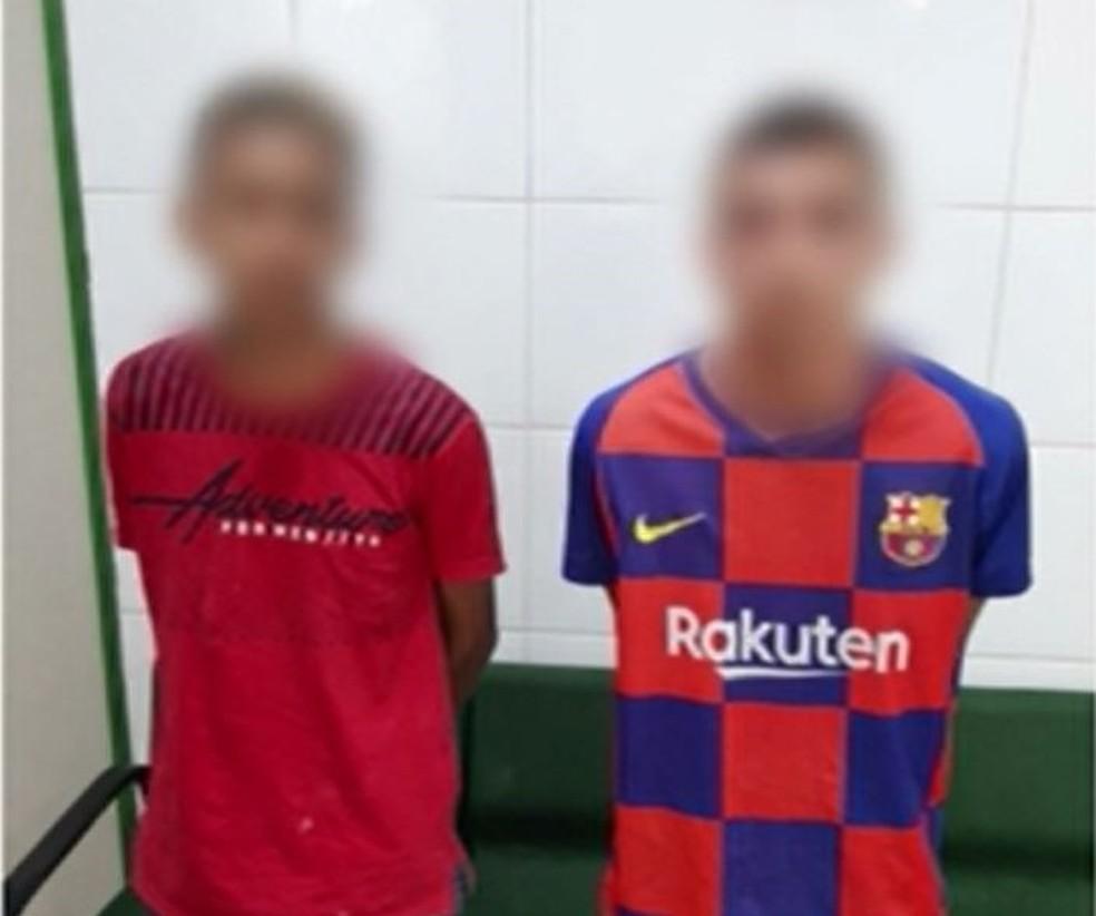 Adolescente são detidos por suspeita de envolvimento na tentativa de matar casal em Canindé, no Ceará — Foto: TV Verdes Mares/Reprodução