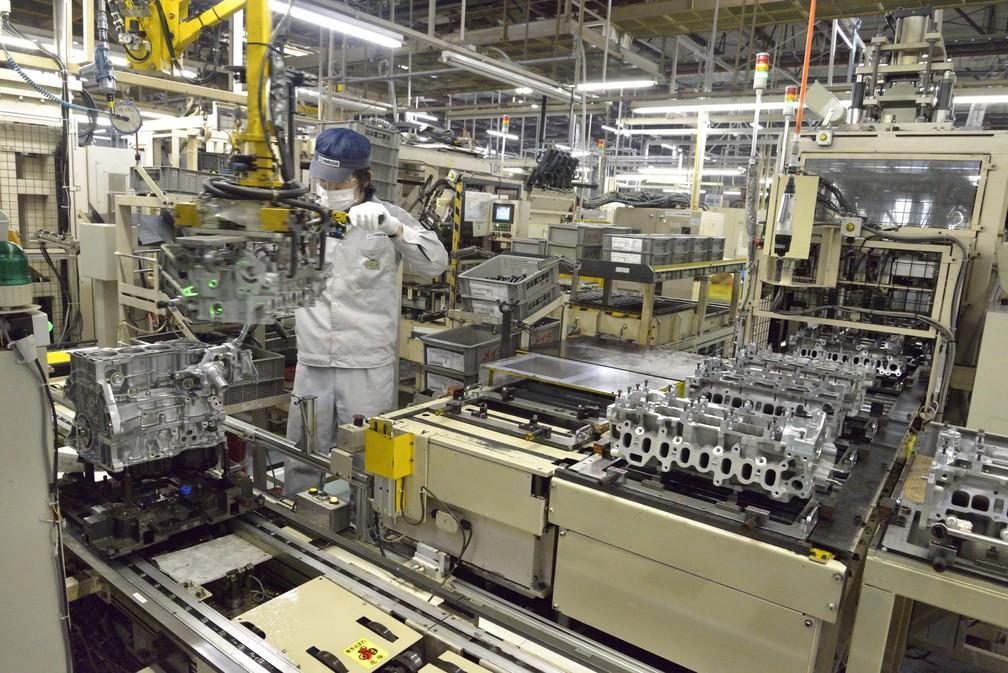Fábrica de motores da Mazda no Japão — Foto: Divulgação