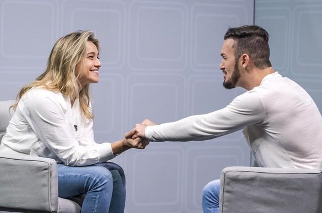 Fernanda Gentil se despede do 'Esporte espetacular' no domingo, com uma entrevista com o ginasta Diego Hypólito (Foto: Paulo Belote /TV Globo)