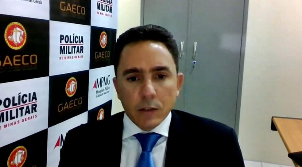 Promotor Paulo Frank fala sobre operação deflagrada em cidades do Sul de MG — Foto: Reprodução EPTV