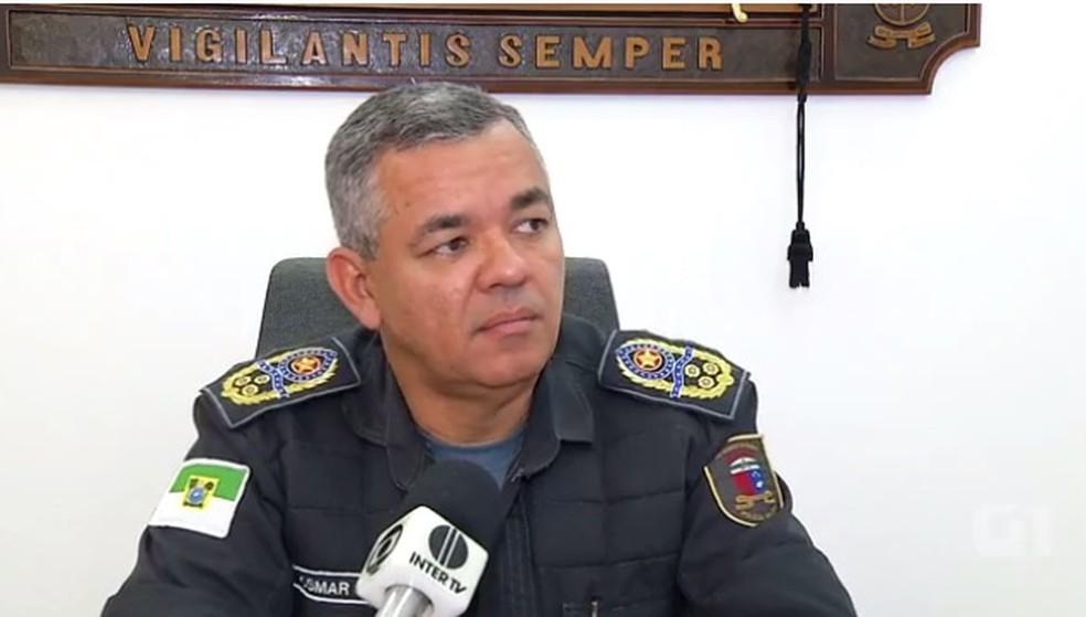 Comandante-geral da PM do RN coronel Osmar Maciel (Foto: Reprodução/Inter TV Cabugi)