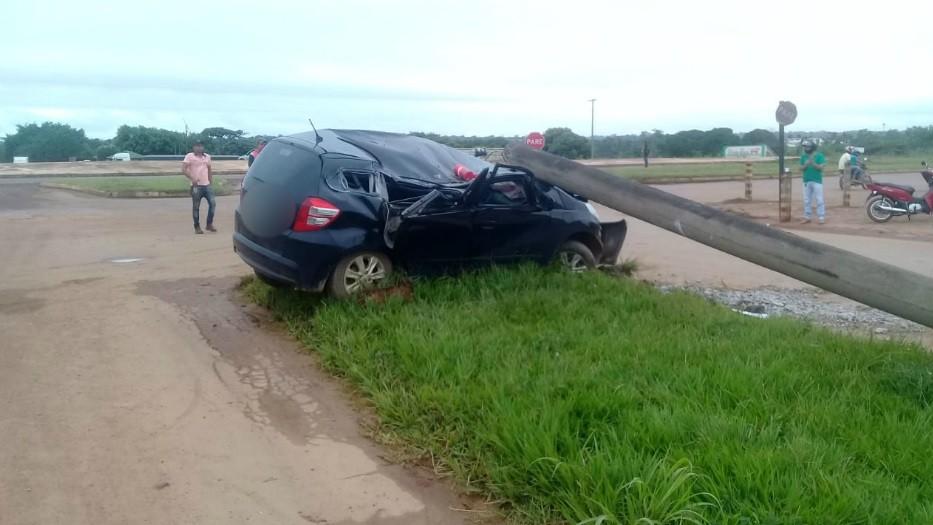 Mulher é presa após colidir carro com bebê de 8 meses em poste na BR-364, em RO - Noticias