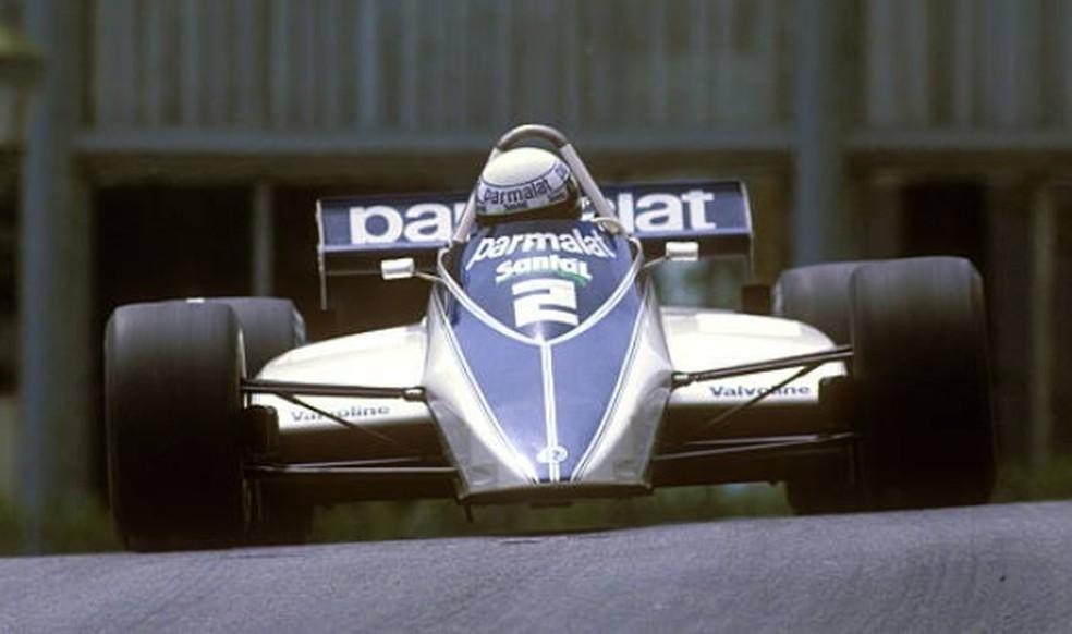Riccardo Patrese e sua Brabham-Ford BT49 no GP de Mônaco de 1982 — Foto: Getty Images