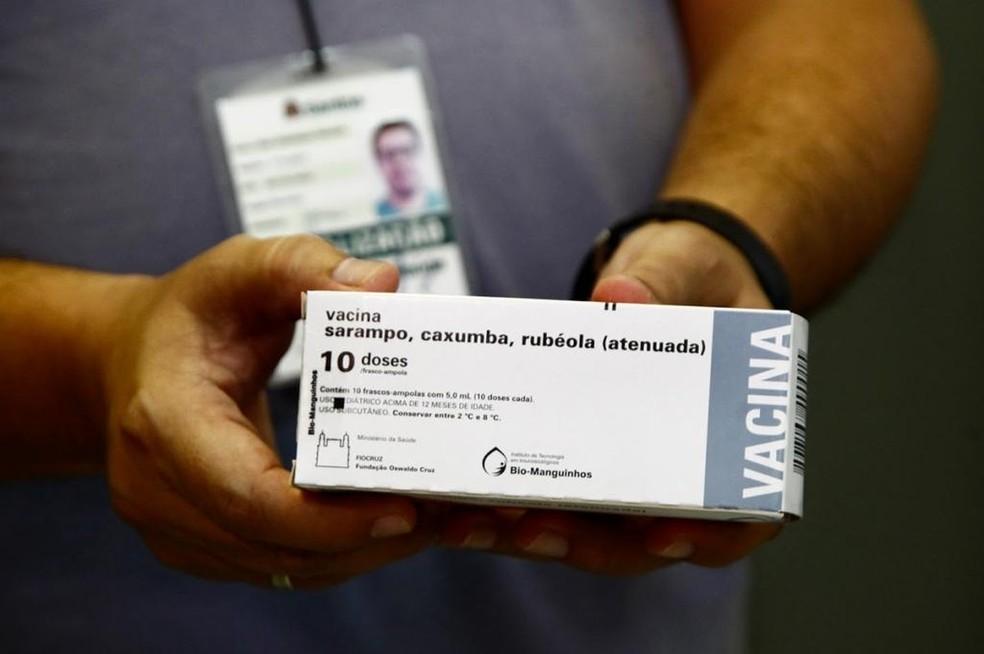Prefeitura de Santos vacina 7 mil moradores contra o sarampo — Foto: Divulgação/Prefeitura de Santos