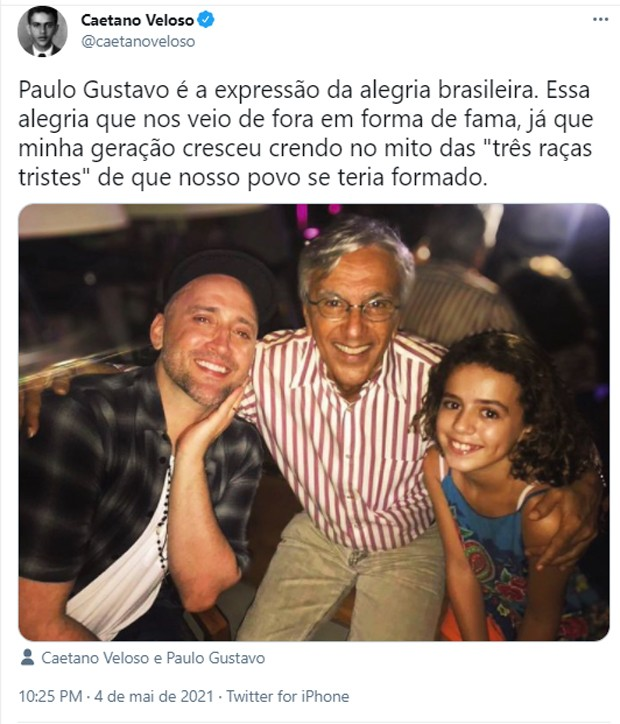 Famosos lamentam morte de Paulo Gustavo (Foto: Reprodução/Twitter)