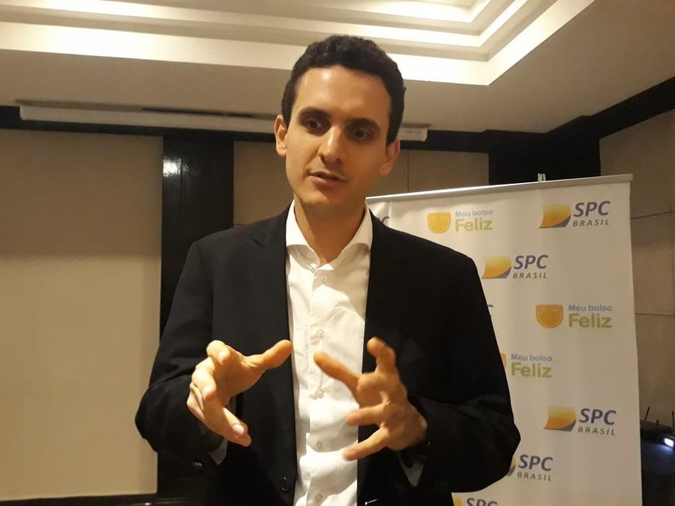 Flávio Borges, superintendente de finanças do SPC — Foto: Tais Laporta/G1