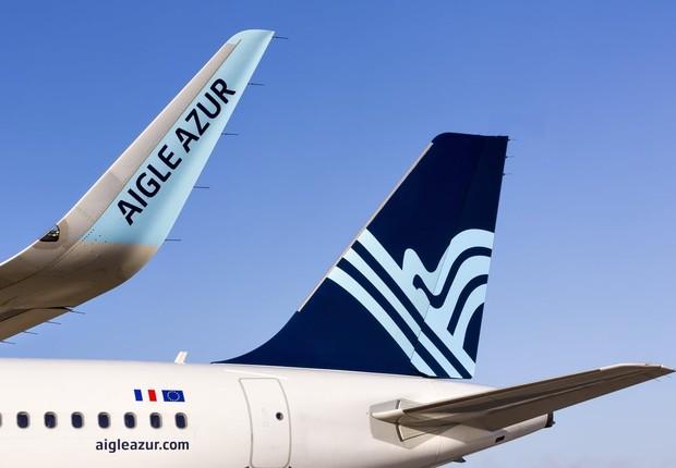 Avião da companhia aérea Aigle Azur (Foto: Divulgação)