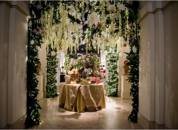 Os arranjos de flores e plantas foram feitos pela Sebastian Flores, da Itália (Foto: Divulgação)