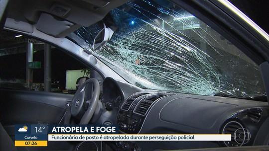Suspeitos trocam tiros com a polícia, atropelam mulher e fogem em Contagem