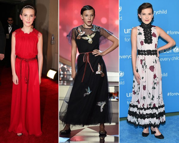Millie Bobby Brown arrasando nos red carpets (Foto: Getty Images)