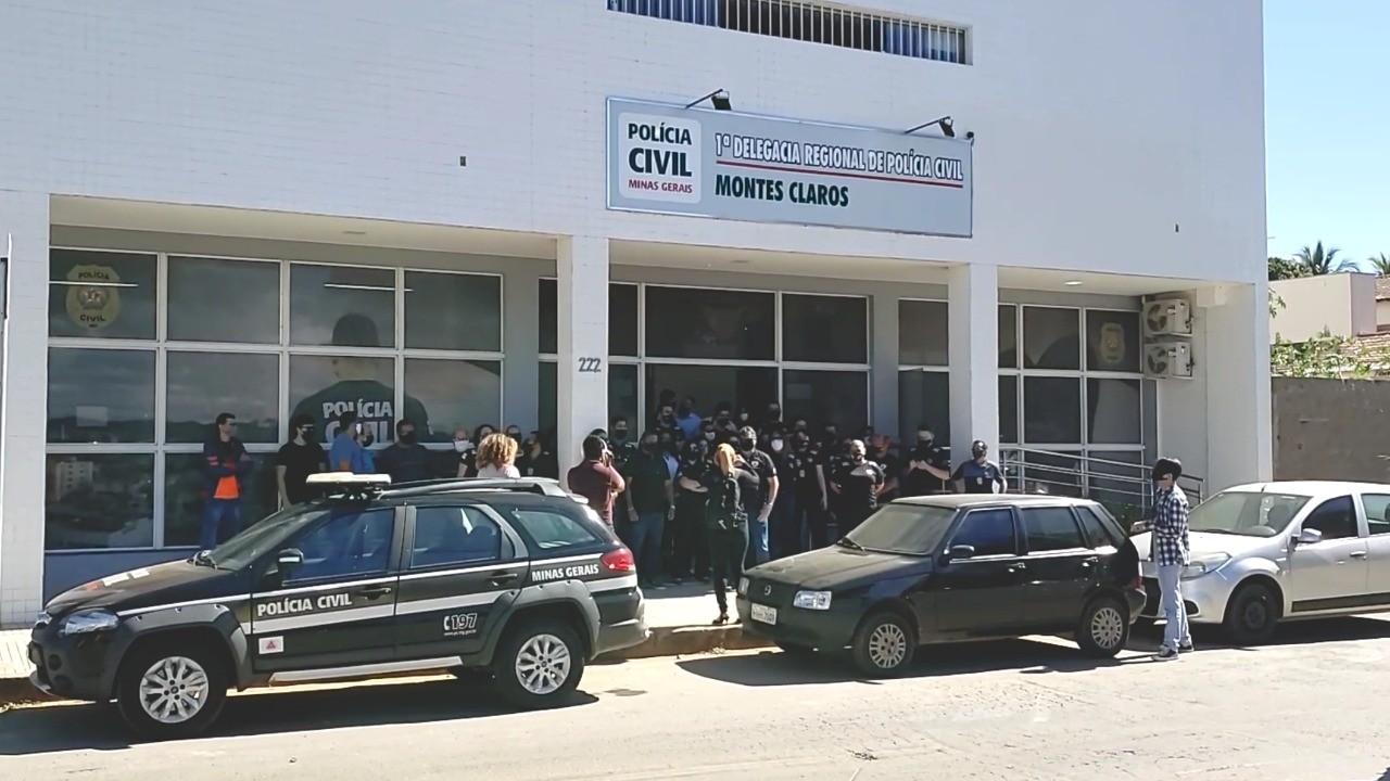 Policiais civis do Norte de MG protestam contra o projeto de reforma da previdência