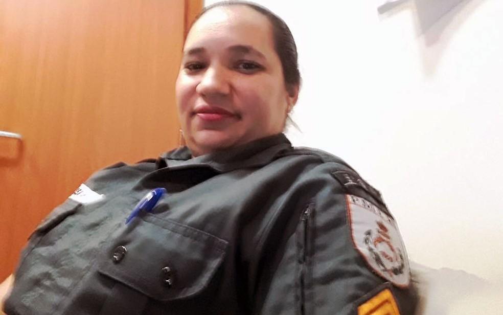 Elisângela Cordeiro tinha 41 anos e era lotado no 5º BPM (Foto: Arquivo Pessoal)