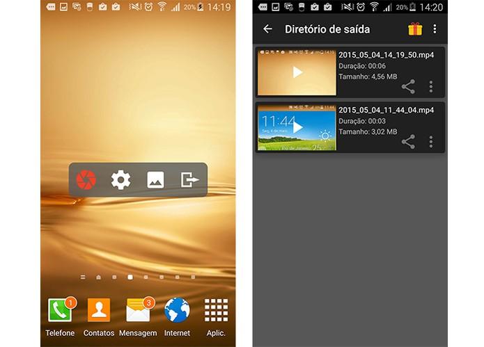Aplicativo permite gravar a tela do Android de forma simples (Foto: Reprodução/Barbara Mannara)