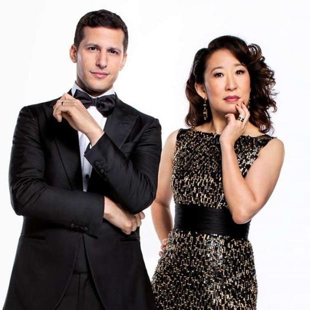 Andy Samberg e Sandra Oh (Foto: Reprodução/Instagram)
