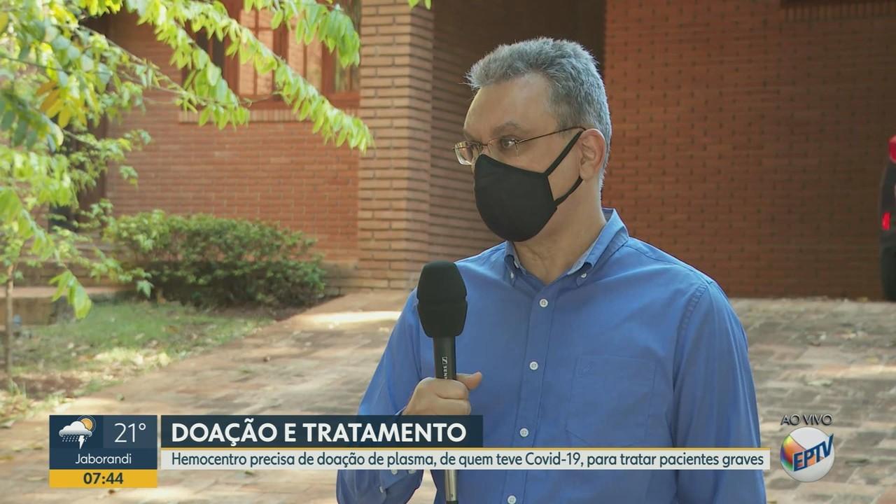 Hemocentro de Ribeirão busca plasma de quem teve Covid-19 para tratar pacientes graves