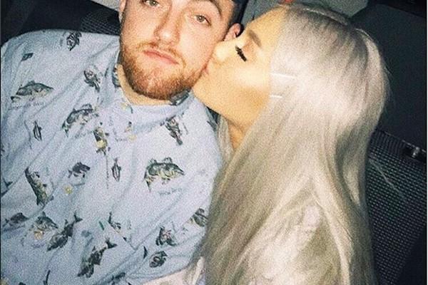 A cantora Ariana Grande com o ex-namorado, o rapper Mac Miller (1992-2018) (Foto: Instagram)