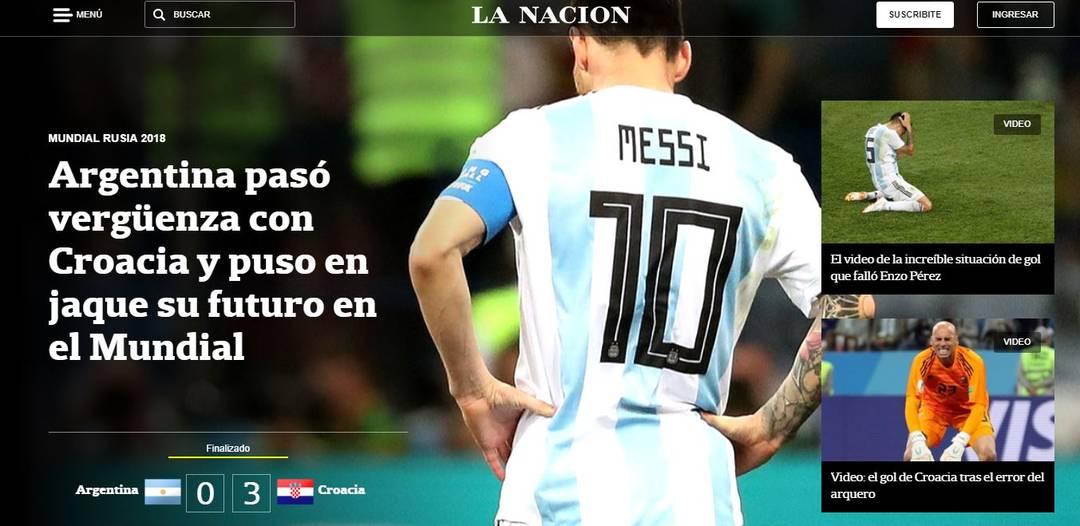 La Nación Argentina x Croácia