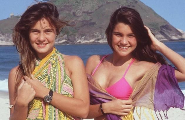 """Estreia de hoje no catálogo do Globoplay, """"Top model"""" (1989) foi marcada por ser o primeiro trabalho em novelas de nomes que se tornaram consagrados na TV brasileira, como Adriana Esteves e Flávia Alessandra (Foto: TV Globo)"""