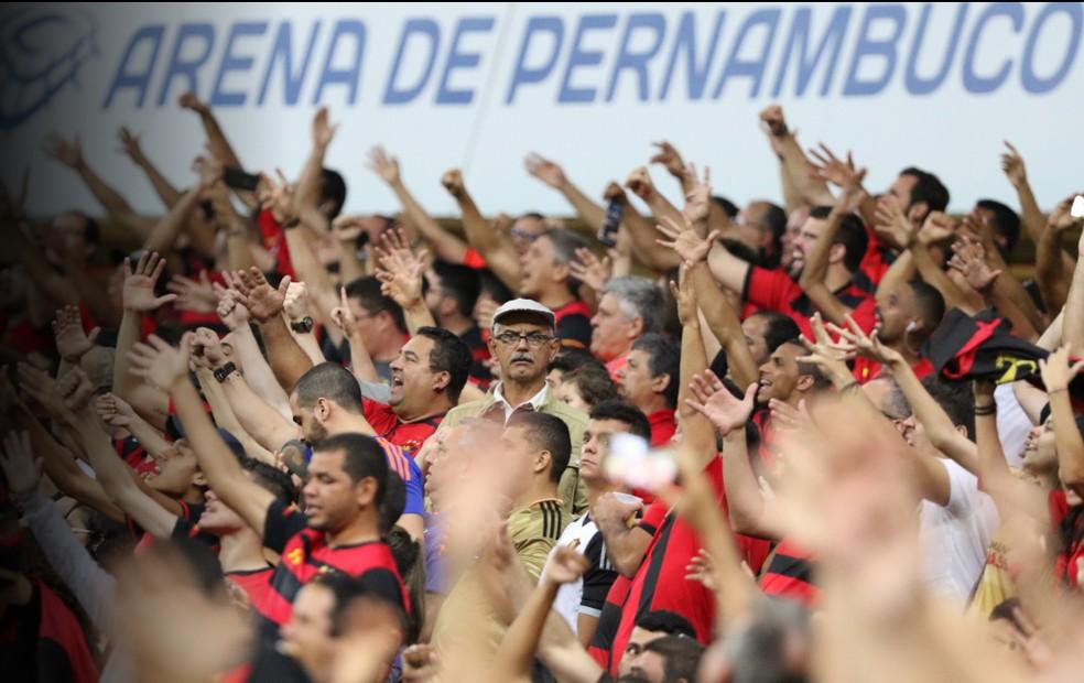 Sport fez três jogos na Arena de Pernambuco na última temporada — Foto: Reprodução