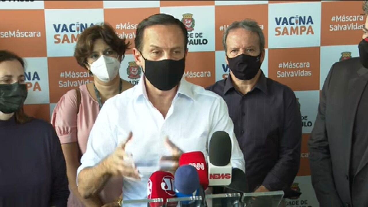 Doria: 'Estado vive pior momento desde o início da pandemia'