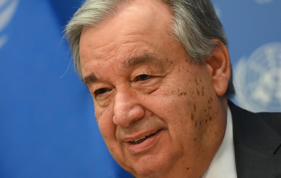 O secretário-geral da ONU, Antonio Guterres, em imagem de 4 de fevereiro — Foto: Angela Weiss/AFP