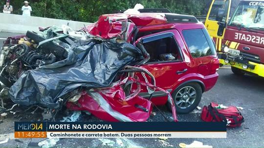 Homem e criança morrem em acidente na BR-376, em Imbaú
