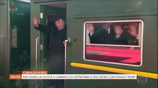Kim Jong-un já está a caminho do Vietnã para o encontro com Donald Trump