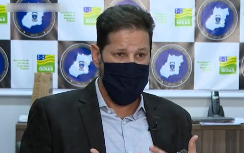 Delegado Alexandre Pinto Lourenço da Polícia Civil de Goiás — Foto: Reprodução/TV Anhanguera