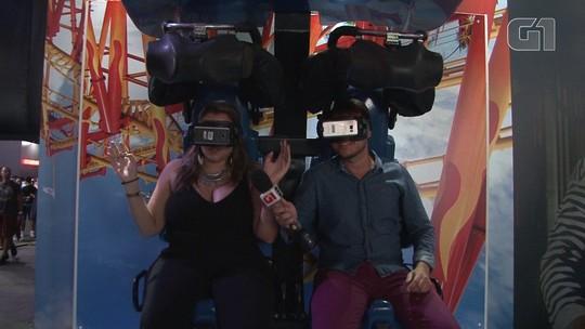 VÍDEO: G1 testa jogos de realidade virtual no Game XP do Rock in Rio